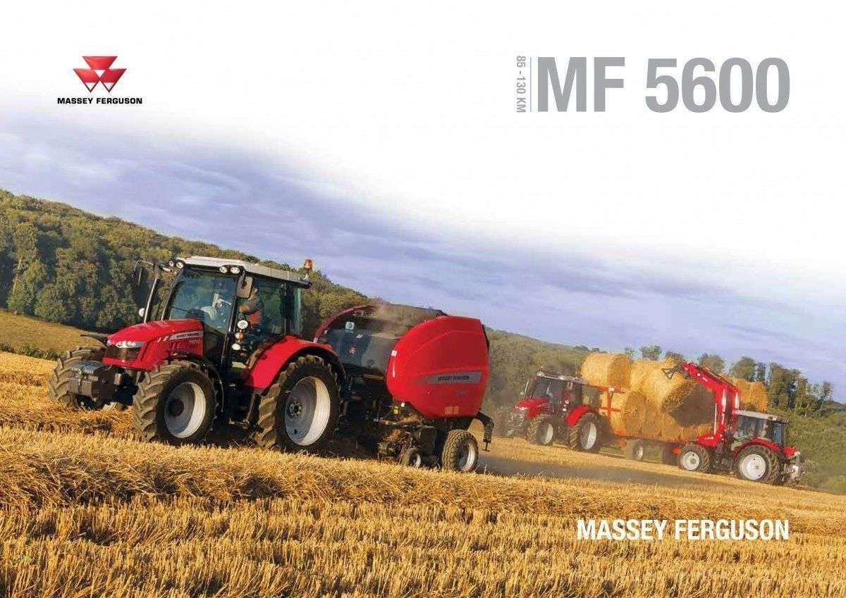 prospekt reklamowy nowe ciągniki rolnicze Massey Ferguson 5600