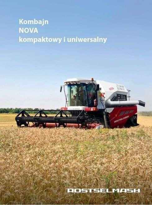 prospekt reklamowy kombajnu Rostselmash Nova 330 kompaktowy i uniwersalny