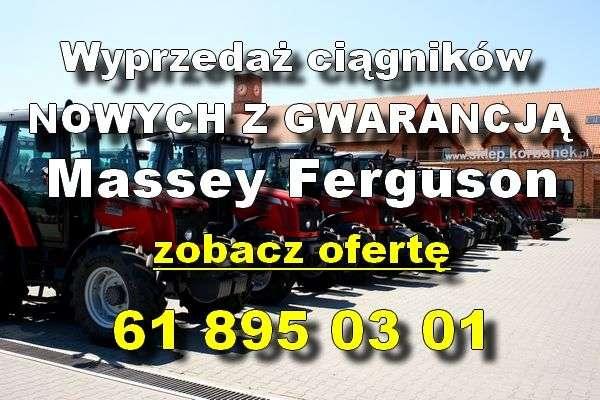 wyprzedaż ciągników Massey Ferguson nowych z gwarancją www korbanek