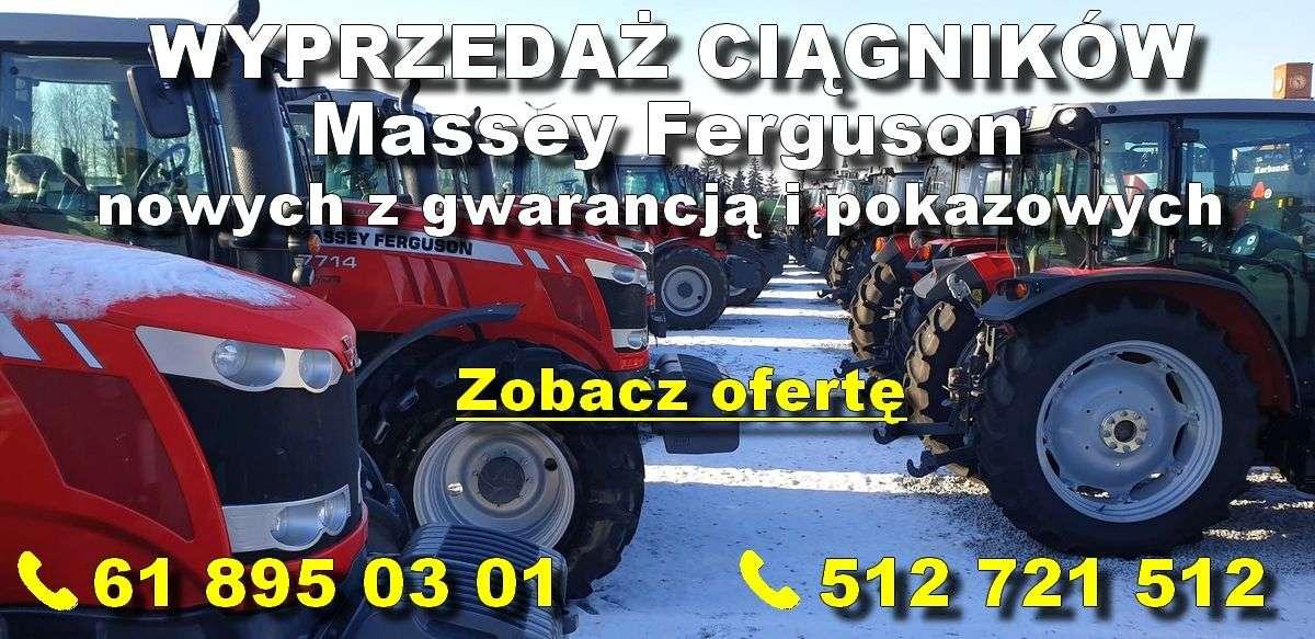 wyprzedaż ciągników Massey Ferguson nowych i pokazowych