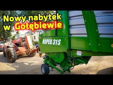 Embedded thumbnail for Piotr dostarcza przyczepę samozbierającą do Gołębiewa  3 maszyny nie dało na raz przywieść