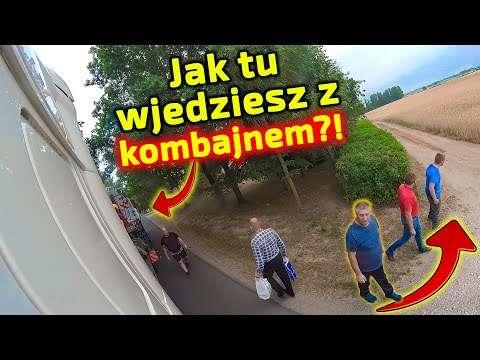 Embedded thumbnail for  Kierowca Piotr na ostrym zakręcie Jak On wjedzie ciężarówką z kombajnem?! Przodem niemożliwe!