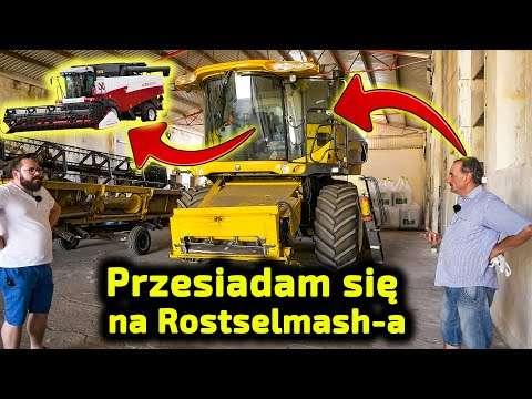 Embedded thumbnail for Sprzedaję New Hollanda Rosyjski kombajn mówi po polsku Rostselmash Acros 595+