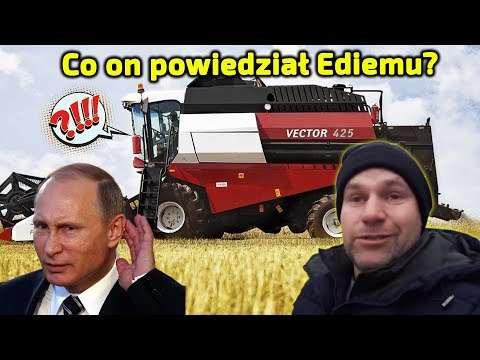 Embedded thumbnail for Edi Farmer zaniemówił Co powiedział kombajn Vector 425 od Rostselmash