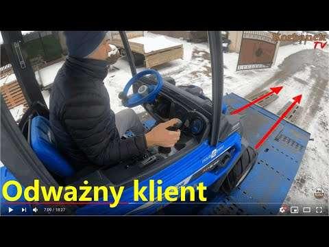 Embedded thumbnail for Rozładunek ciężarówki Dziś Piciu rozwozi maszyny Odważny klient zjedzie sam Ślisko!