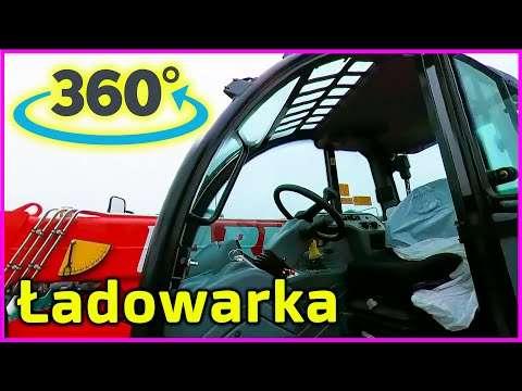 Embedded thumbnail for Jeszcze tak nie było Ładowarka teleskopowa Obraz filmu obracaj w dowolnej płaszczyźnie VR 360º