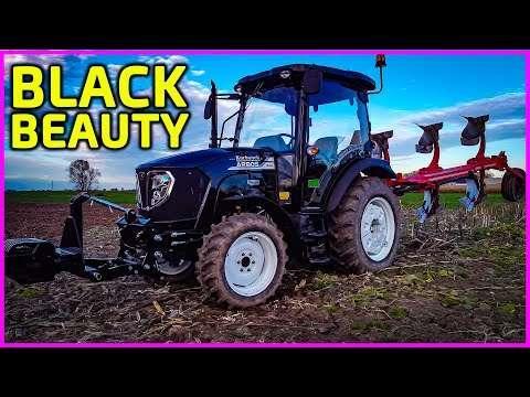Embedded thumbnail for Piękny czarny ciągnik Black Beauty Arbos 3055