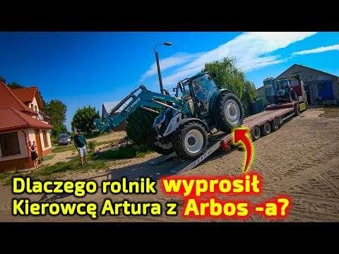 Embedded thumbnail for Rolnik wyprosił kierowcę z ciągnika Artur przywiózł 2 ciągnik Arbos-a ale nim nie zjedzie