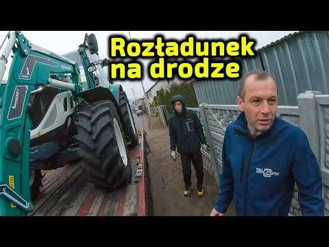Embedded thumbnail for Rozładunek na drodze Pośpiech niewskazany ! Nowy ciągnik z dostawą do domu rolnika