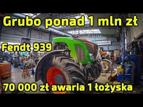 Embedded thumbnail for Ponad 1 mln zł kosztują ciągniki Fendt 939 70 000 zł kosztuje naprawa skutków awarii 1 łożyska!!!