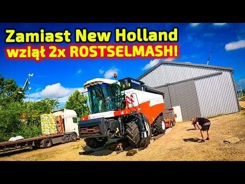 Embedded thumbnail for Zamiast New Holland Piotr przywiózł 2 szt. Rostselmash Acros 595+
