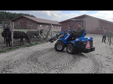 Embedded thumbnail for Mini ładowarka MultiOne wśród alpak, osiołków, kózek i kucyków