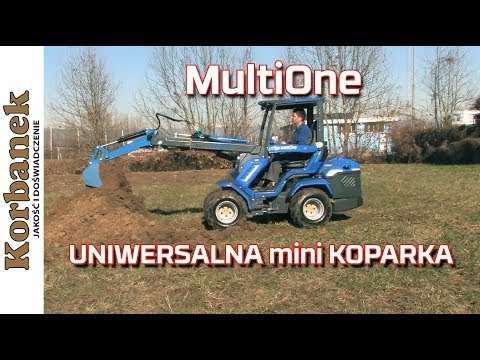 Embedded thumbnail for MultiOne mała mini koparka do kopania rowów i wykopów