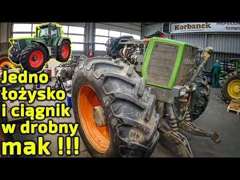 Embedded thumbnail for Ciągnik Fendt pokrojony na kawałkiSkutek uszkodzenia łożyska przedniego napędu Przekładnia vario