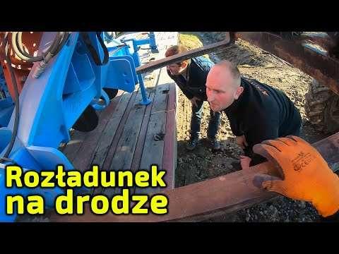 Embedded thumbnail for Rozładunek na drodze Łatwo nie było ! Nowy siewnik punktowy z dostawą do domu rolnika